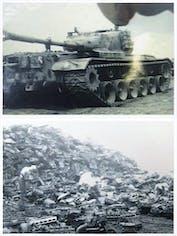 空から降ってきた戦車のかけら