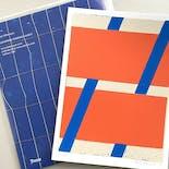 "Alain Biltereyst Silk Screen Print (Red) + ""Gathering Evidence"""