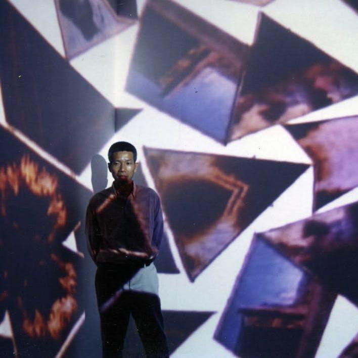 蔡國強 個展「万華鏡」展示会場にて ノマルエディション/プロジェクトスペース , 大阪 , 2001