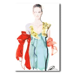 David Downton [Valentino Couture Fall 2018]-デイビッドダウントン額装アートプリント