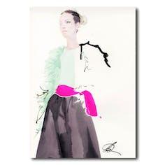 David Downton [Valentino Couture Spring/Summer 2019]-デイビッドダウントン額装アートプリント
