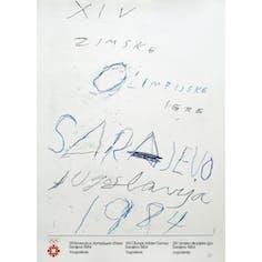 【ヴィンテージ】Olympic Games Sarajevo,1984 1984年サラエボ五輪 サイ・トゥオンブリーデザインのポスター