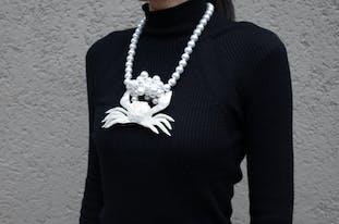 カニのネックレス【受注生産・1月下旬〜2月上旬のお届け】