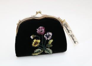 パンジー刺繍チェーンバッグ
