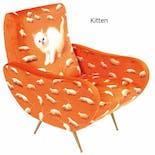 【受注生産】TOILETPAPER アームチェア Kitten