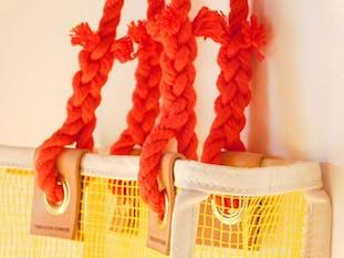 タラスキンボンカース|KNOT bag(網)(Mサイズ)