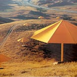 【Signed Poster】Christo & Jeanne-Claude:The Umbrellas, Japan-USA, 1984-1991, USA site
