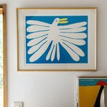 "Nathaniel Russell x Pacifica Collectives ""White Bird"" Silkscreen"