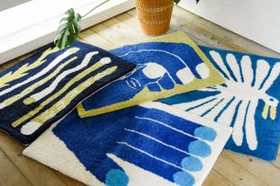 "Nathaniel Russell x PacificaCollectives ""Blue Hands"" Rug"
