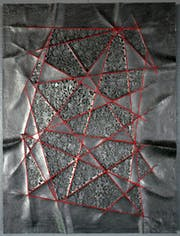Folded Drawings with dots (red-40-30-#01)