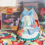 Cut-and-Pasted Landscape on a Still Life with Cake