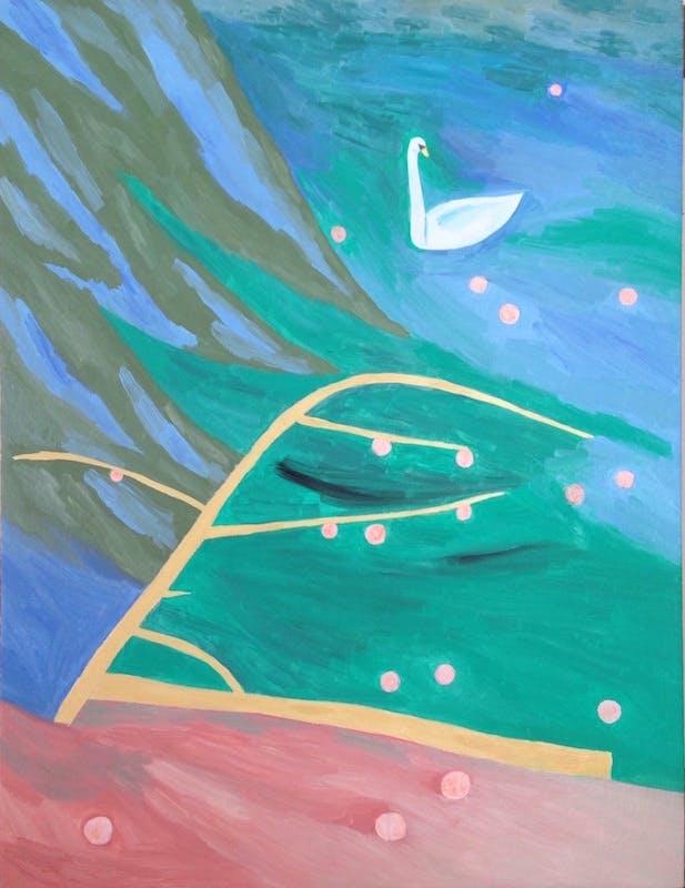 peach garden 2016 キャンバスに油彩 65.0 x 50.0 cm