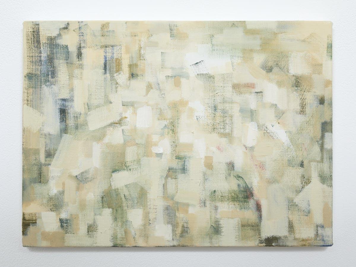 """""""色を見る Looking at the color"""", 2020, Oil on canvas, 24.2 x 33.3 cm"""