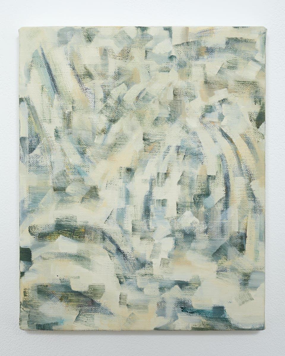 """""""色を見る Looking at the color"""", 2020, Oil on canvas, 27.3 x 22 cm"""