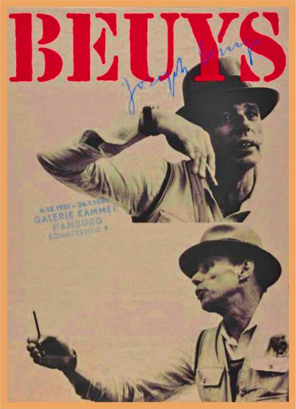 Joseph Beuys: Galerie Kammer Hamburg, 1981 ポスター